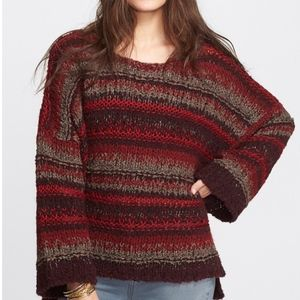 Free People Slouchy Knit Pullover- Size Small